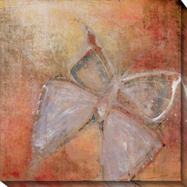 """""""butterfly Camvas Wall Art - 40""""""""hx40""""""""w, Pink"""""""