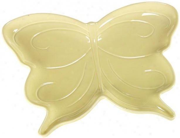 """""""butterfly Platfer - 10.5""""""""hx13.5""""""""w, Yellow"""""""
