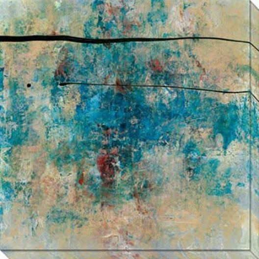 By Chance Iii Canvas Wall Art - Iii, Blue