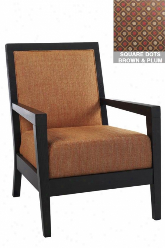 """cade Arm Chair - 38""""hx28""""w, Sq Dts Brwn/plm"""
