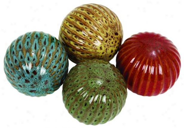 """caelan Decorative Ball - Set Of 4 - 4"""" Diameter, Mulit"""