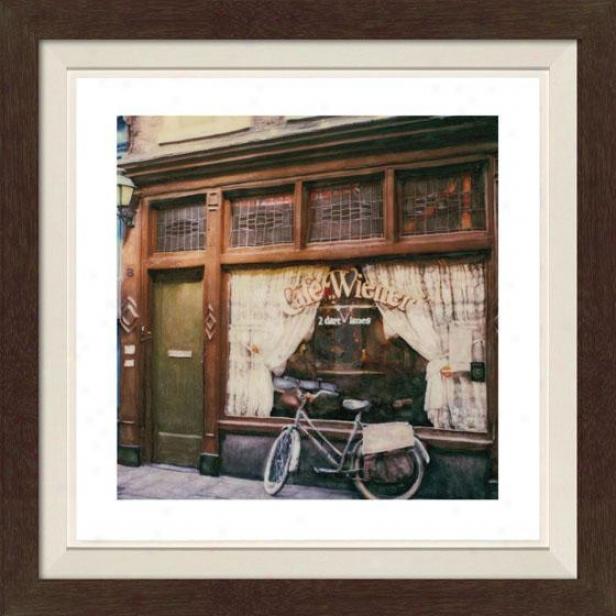 """""""cafe Weiner Framed Wall Art - 30""""""""hx30""""""""w, Fltd Espresso"""""""