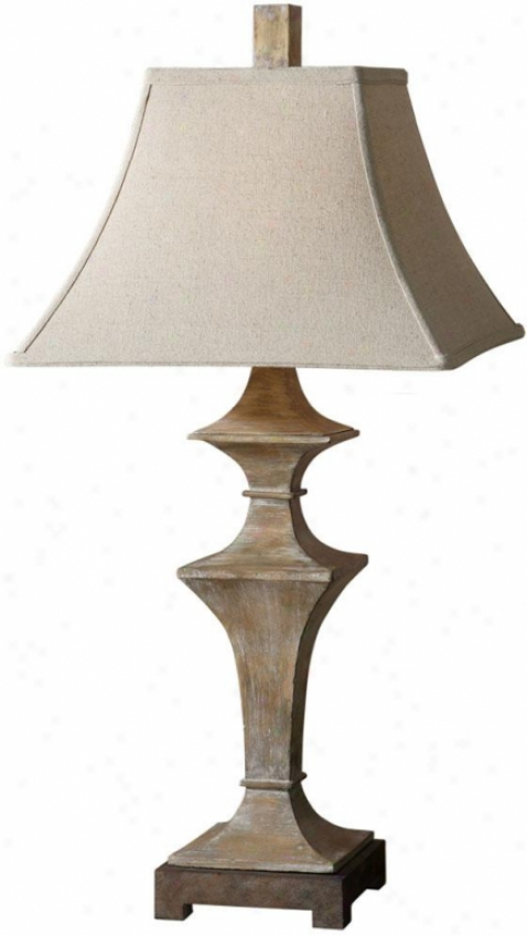 """cagliari Table Lamp - 33""""hx16""""diametr, Roasted Pecan"""