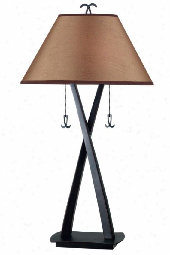 """cain Table Lamp - 33""""h, Oil Rubbed Bronze"""