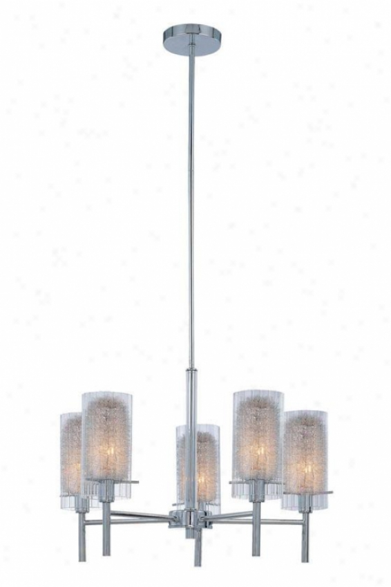 Caldwell Chandelier - Five Light, Silvery Chrome