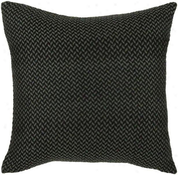 Cale Pillow - 18hx18w, Black