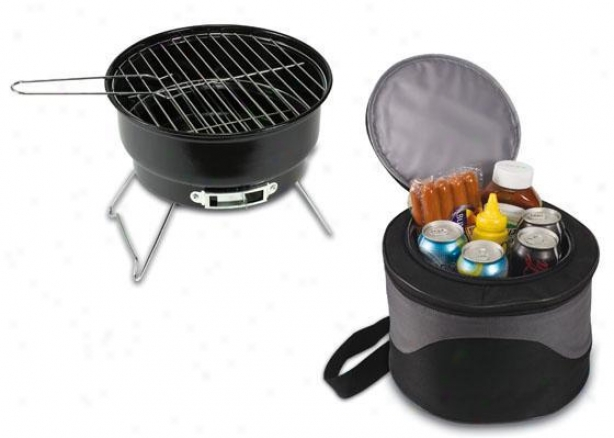 """caliente Bbq Grill Cooler - 8.5""""h, Black"""