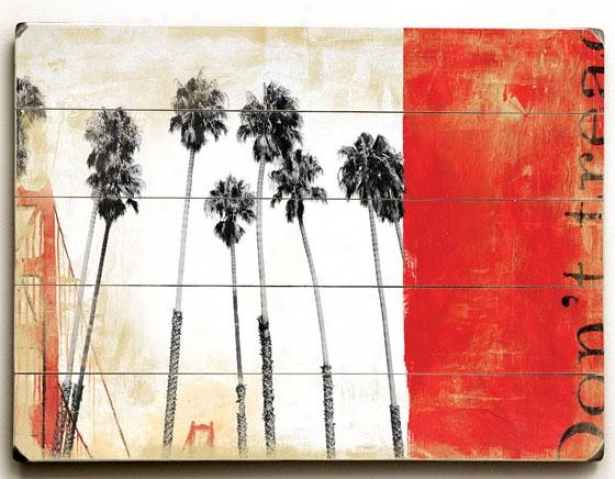 """californi aDreaming Wooden Symbol - 20""""h X 14""""w, Red"""