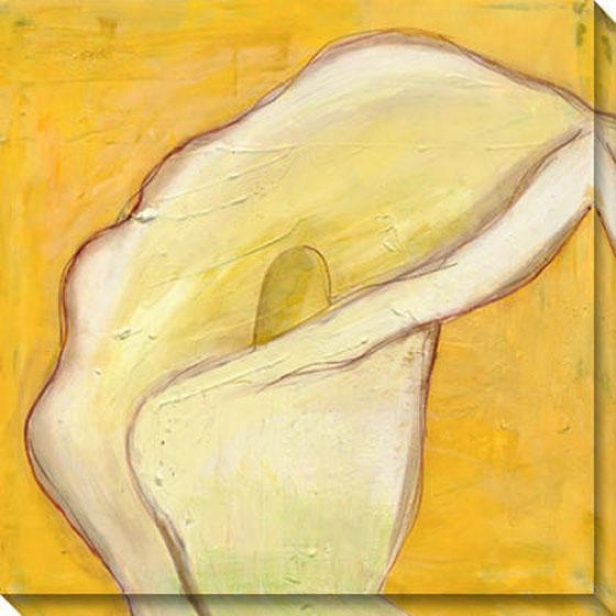 Calla Lily On Gold I Canvas Wall Art - I, Yellow