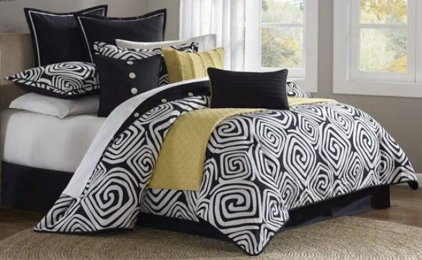 Calypso Ii Comforter Set - Queen 9pc Set, Black