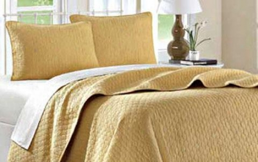Calypso Ii Coverlet Set - Doubled 2pc Set, Gold
