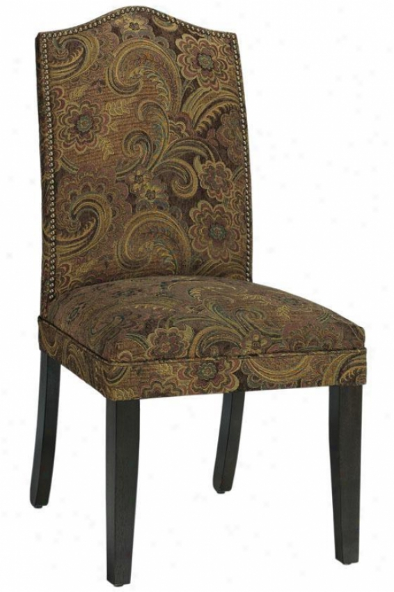 Camel-back Parsons Chair With Nailhead Trim - Camel Back, Silas Raisin