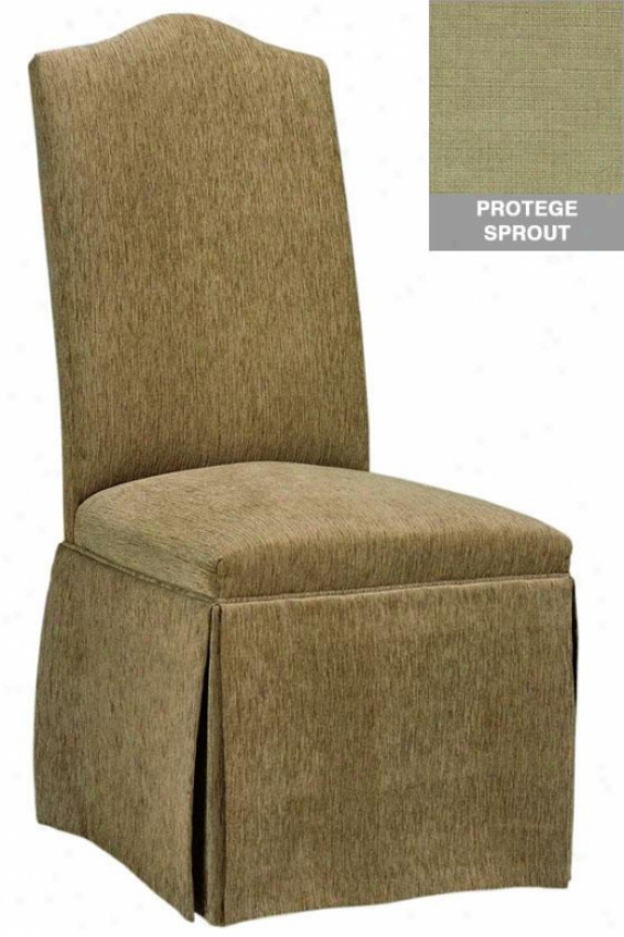 Camel-back Parsons Chair With Skirt - Camel W/skirt, Protege Sprout