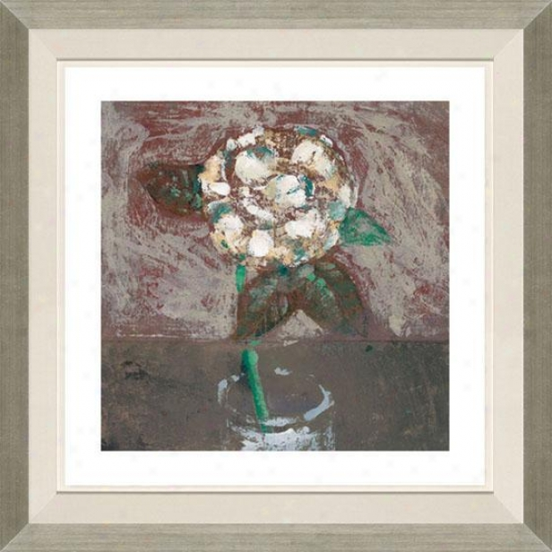 """camellia Framed Wall Art - 29""""hx29""""w, Floated Silver"""