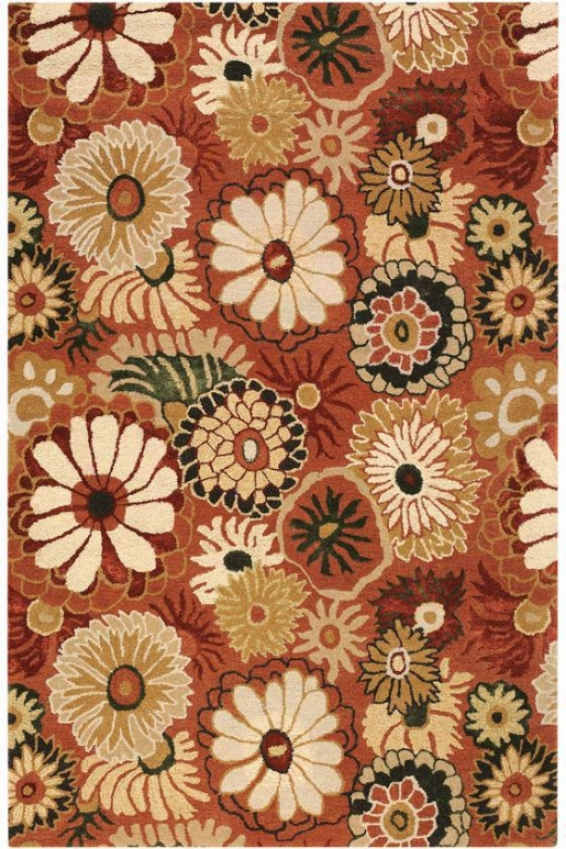 """camille Ii Area Rug - 3'6""""x5'6"", Brick Red"""