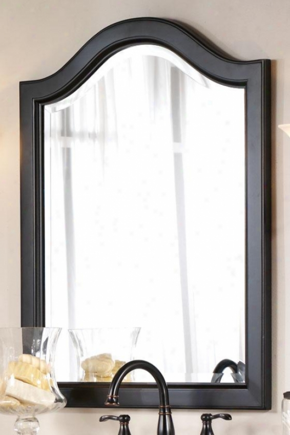 """camille Mirror - 32""""hx25""""w, Black"""