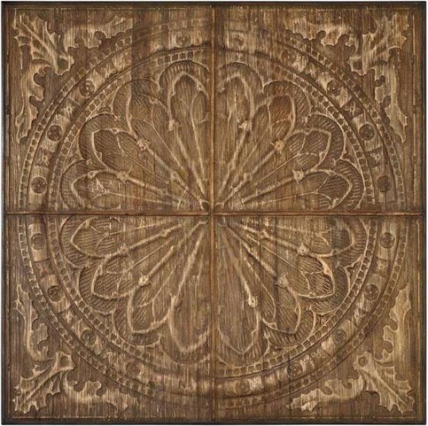"""""""camillus Wall Practical knowledge - 44.25"""""""" Sqiare, Antiqued Wood"""""""