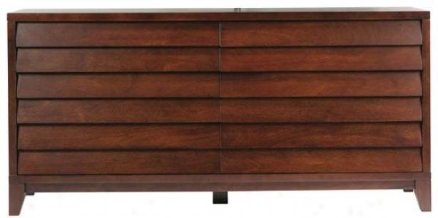 Canali Dresser - Six Drawer, Mocca