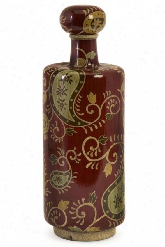 Candice Vase With Stopper - Tall, Red