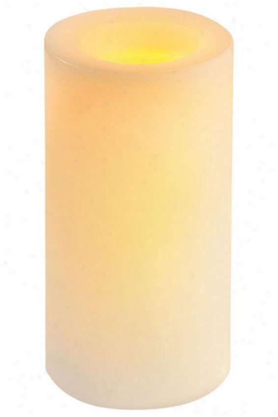 """candle Impressions Smooth Led Candle - 8""""h, Ivory"""
