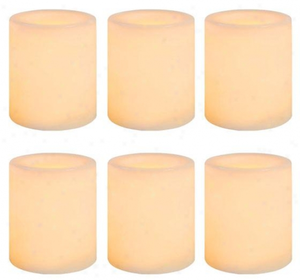 Candle Impressions Smooth Votive Led Candles - Six Pack, Ivory