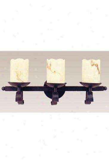 Candle Three-light Wall Sconce - Three-loght, Black