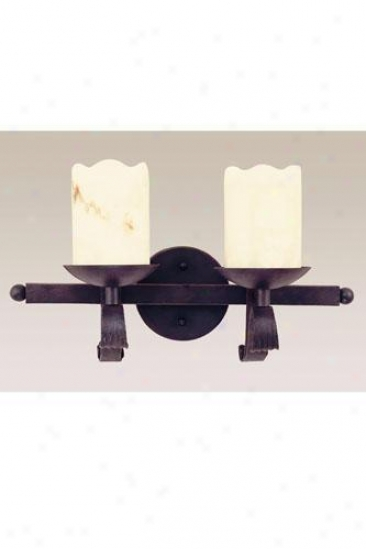 Candle Two-light Wall Sconce - Two-light, Black