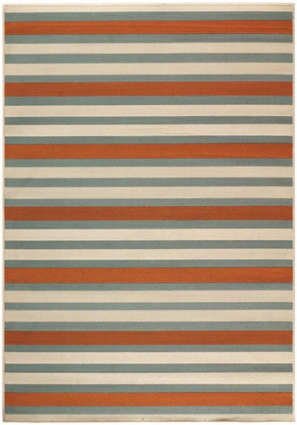 """candy Stripe All-weather Area Rug - 2'3""""x7'6"""", Red/teal Stripe"""