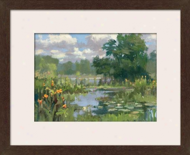 """canna Lillies Framed Wall Art - 27""""hx31""""w, Mttd Espresso"""
