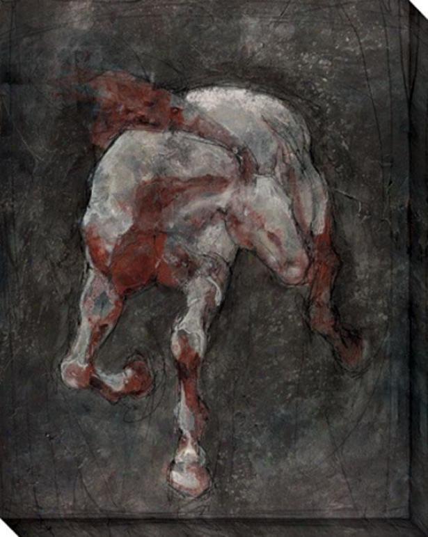Cantor Ii Canvas Wall Art - Ii, Black
