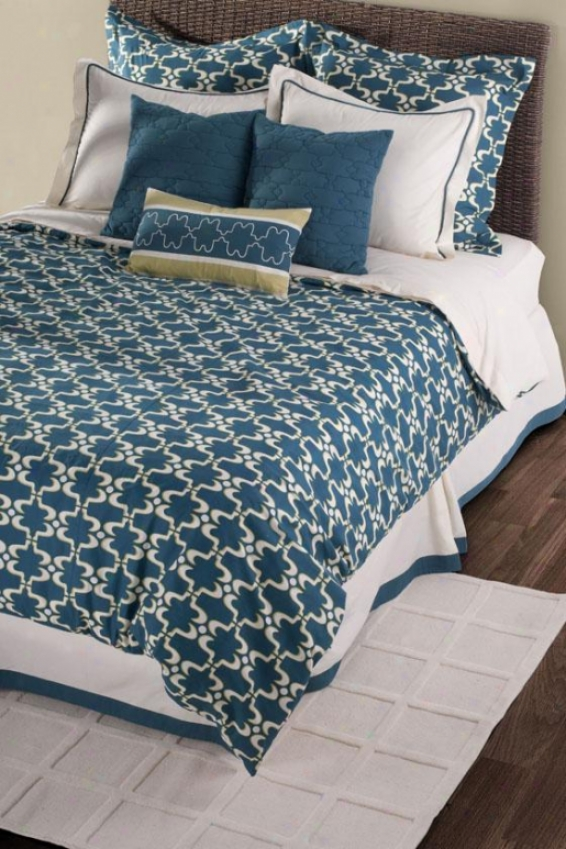 Cape Carley Bedding Set - King, Peacock Blue