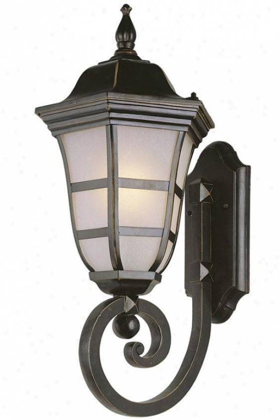 Headland Cod 1-light Outdoor Wall Lantern - Small, Brown Bronze