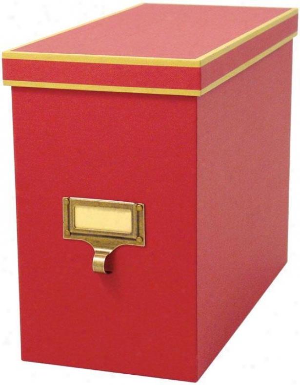 """cqrgo Atheneum File Box - 9.5""""hx5.5""""w, Red"""