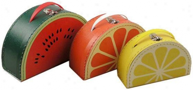 Cargo Cool Mixed Fruit Cases - Set Of 3 - 3 Piece Set, Fruit
