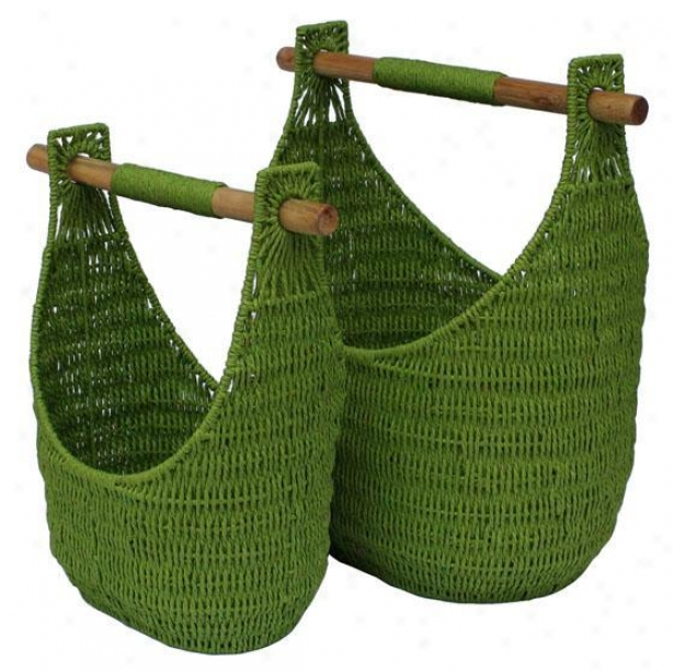 Cargo Elements Caddy - Set Of 2 - Set Of 2, Peridot