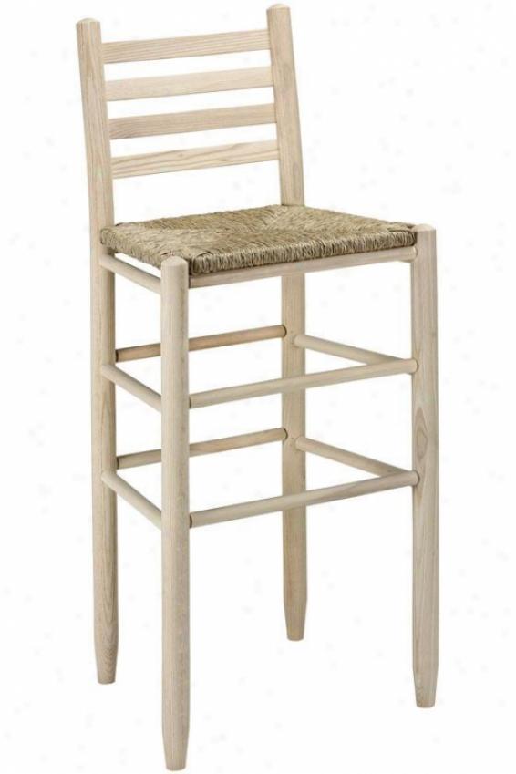 """carolina Ladder-back Bar Stool - 30""""barstool, Brown Wood"""
