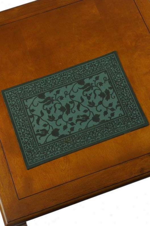 Carrara Pisa Set Of Four Place Mats - Pisa, Green