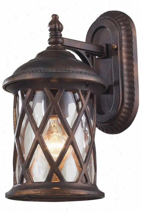 """carringtoh Manor Outdoor Sconce - 13""""hx7""""w, Hazelnut Bfonze"""