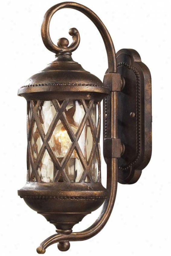 Carrington Manor Small Outdoor Mulct - 1 Light, Hazelnut Bronze