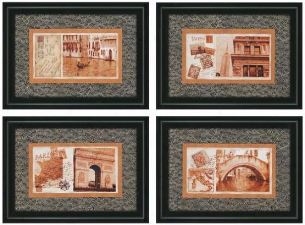 Carte Postale Wal Art - Set Of 4 - Set Of 4, Black