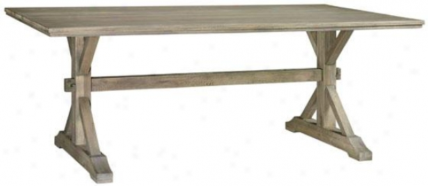 """Accidental Country Dining Table - 79.8""""x40""""x33.5"""", Gray"""