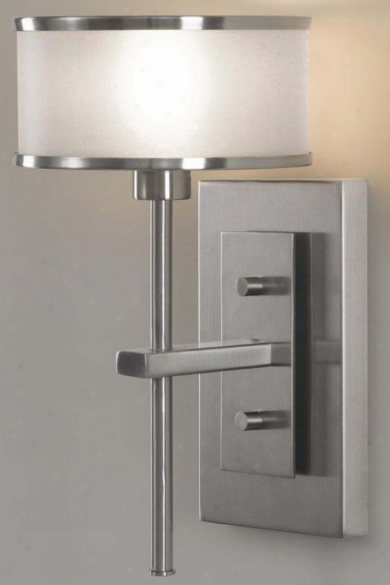 """casual Luxury Sconce - 11.25""""h X 6.5""""w, Grey Steel"""
