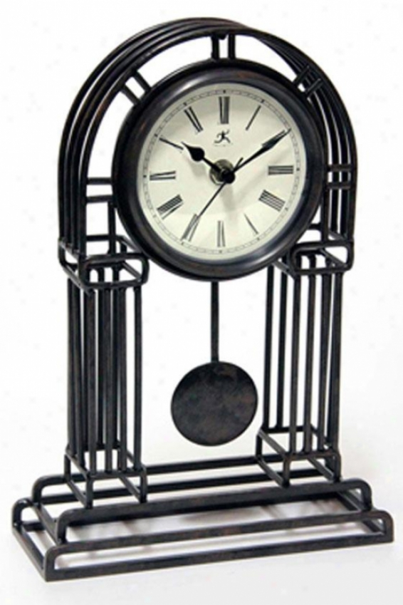 """cathedral Mantel Clock - 11.5""""hx8""""w, Black"""