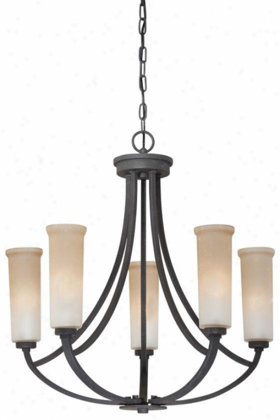 Catherine Chandelier - 5-light, Geey Ash