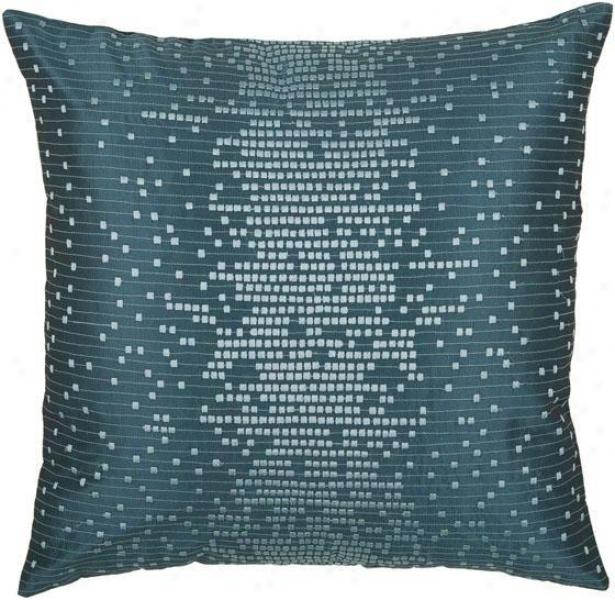 """""""caufield Pillow - 18""""""""x18"""""""", Peacock Blue"""""""