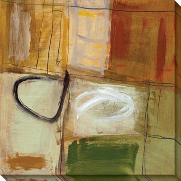 Cavalcade I Canvas Wall Art - I, Beige