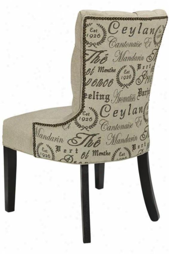 Ceyland Tufted Back Dinign Chair - Antq Brs Nlhead, Teahouse Black