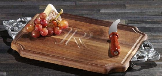 Chablis Cutting Board - Scallop/walnut ,J