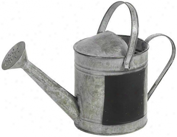 """chalk Watering Can - 8""""h, Slate Grey"""
