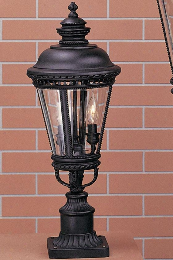 Chamberlaine Outdoor Lamp Post - Three Light, Black